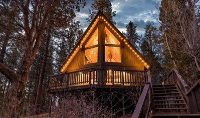 Photo for A-Frame Big Bear Mountain View Cabin with BBQ, Fireplace, Hot Tub & Foosball!