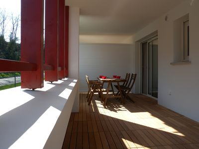 Photo for HENDAYE- Superb T2 classified 3 * -Wifi-350m beach-large terrace-garage in the basement