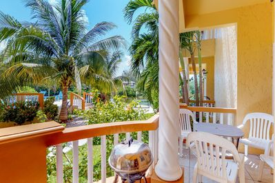 Have a snack or a glass of wine on the private balcony