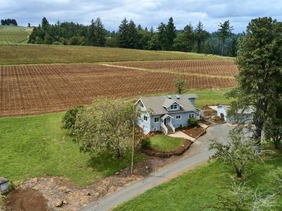 Photo for New Listing: 3 bedroom, 3 bath Farmhouse among the vines of the Eola-Amity Hill