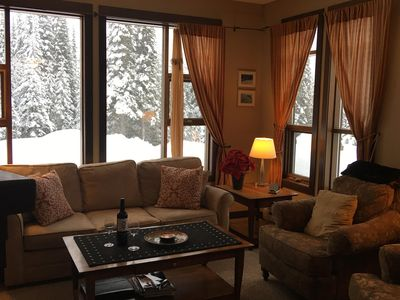 Photo for Bright Sun Peaks 2BR/2BA End Unit Ski ~In~/Ski Out  - View!