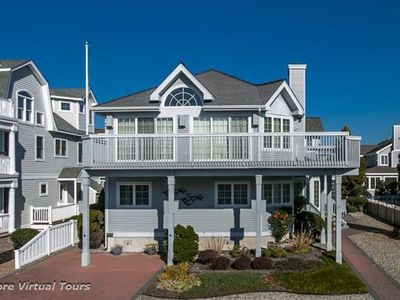 Photo for Completely reimagined for 2018 summer season! Only 5 homes to the beach, gas grill at pool,