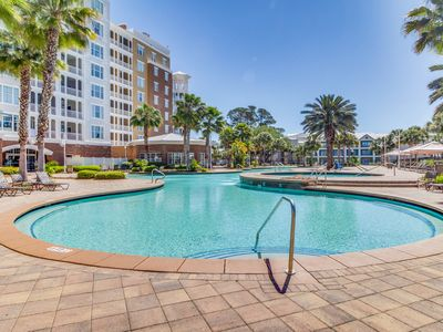 Photo for Wake up to golf front views, gorgeous condo w/ shared hot tub and pool!