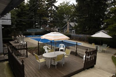 private professionally maintained heated pool