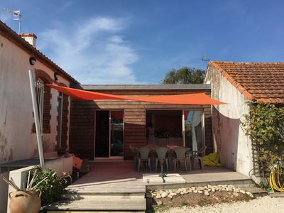 Photo for Fully renovated house on large enclosed courtyard near the sea.