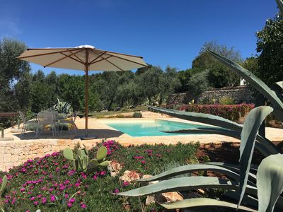 Photo for Luxurious private trullo with lovely salt water pool