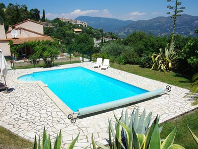Photo for Villa with pool and panoramic view near Nice