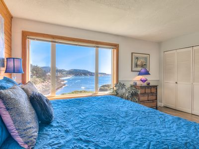 Photo for Spectacular Oceanfront Views of Depoe Bay, Spot Whales, Walk to Town and Dining!