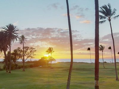 Photo for NEW LISTING! Ocean View condo w/ lanais, shared pool, grill, A/C - sunset views