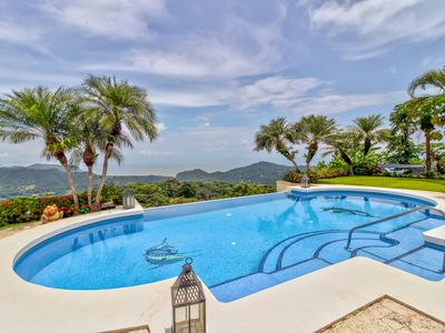 Photo for Gorgeous home with private pool & hot tub, patio area, and stunning views