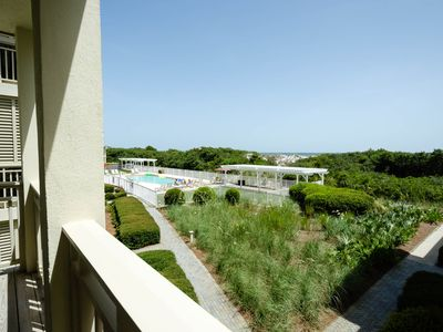 Photo for Gulf District ~ Gulf Front Condo! Steps to Beach Club, Beach Access & Dining!