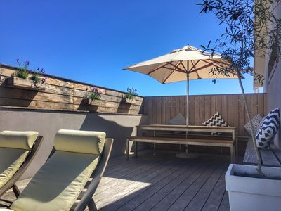 Photo for Cape Town Bantry Bay family home - pool & rooftop deck