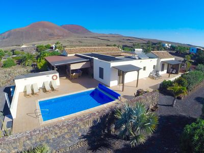 Photo for Luxury Lajares Villa, Secluded & Spacious, Private Heated Pool & Stunning Garden