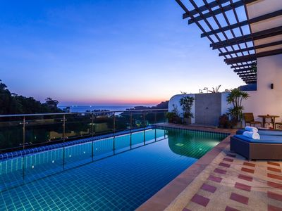 Photo for Seaview penthouse with private pool