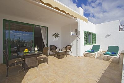 Large private sun terrace. A place to completely relax.