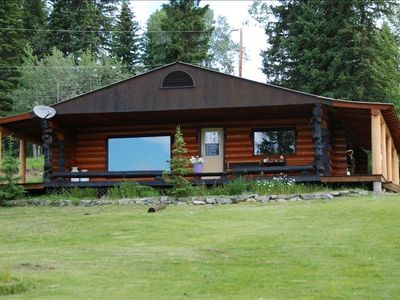 Photo for Lac Des Roches - Lakefront Log Cabin on a 1.37 Acre Lot .