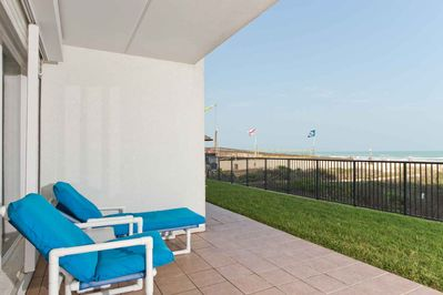 Watch the waves from the private patio!