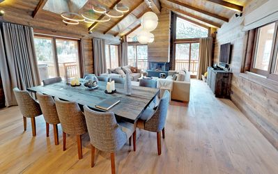 Photo for New refined and elegant chalet - 5 suites - Sauna & jacuzzi