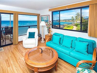Photo for Poipu Shores 207A Oceanfront Sanctuary, Corner Unit, w/AC