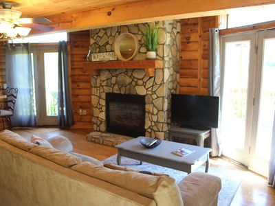 Photo for Romance w/ Fireplace & HOT TUB - UBER to downtown Boone!