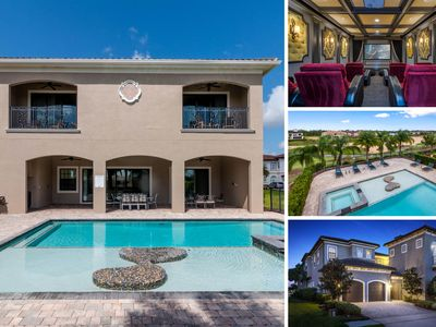 Photo for 8 Bed, 8 Bath Luxury Villa with Game Room, Theater, Private Pool & Spa