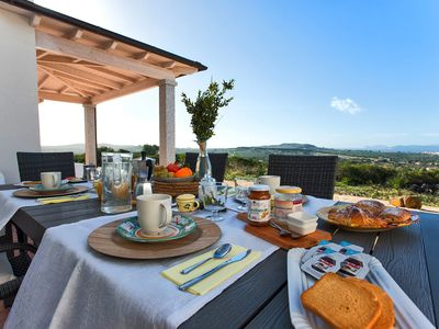 Photo for Alghero Country House Carrabufas sea view villa for 10 people