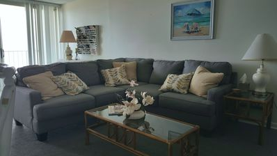 Photo for FREE DAILY ACTIVITIES! Comfortably furnished, 3 bed/2 bath condo.  Direct oceanfront living,