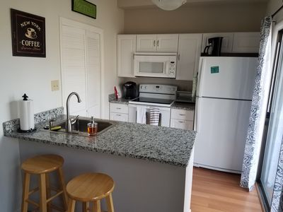Updated kitchen with Keurig coffee maker and drip coffee maker