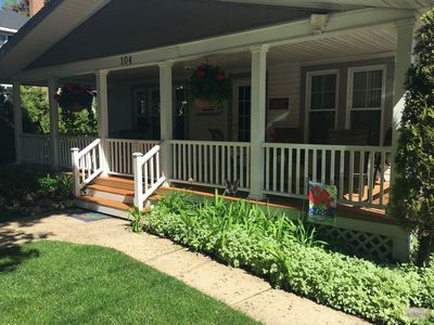 Front porch - great place to relax & watch the world go by!