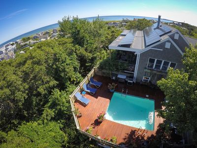 Photo for May and Sept. availability! Panoramic views, heated pool, hot tub, and sauna!
