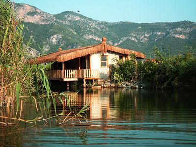 Photo for Yalicapkin Cottage - unique thatched cottage located on the Dalyan River.