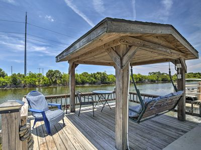 Photo for NEW! Waterfront Holiday Home w/ Pvt Fishing Dock!