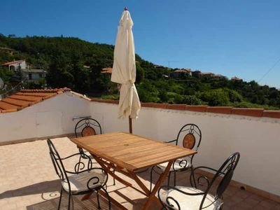 Photo for Large terrace with spectacular panoramic views Two bedrooms Washing machine Wood-burning stove