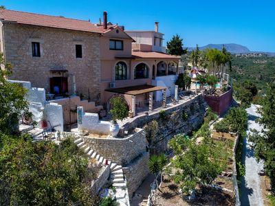 Photo for Amazing villa,Stunning views,Next to Almyrida for up to 13 persons,Kids Pool