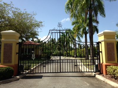The majestic front gate.