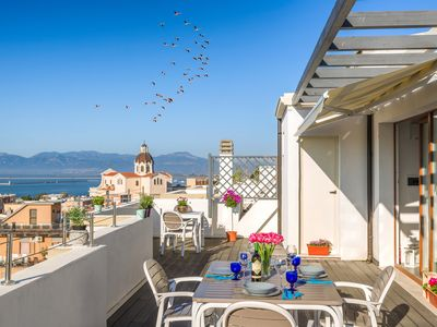 Photo for Beautiful new penthouse with a breathtaking and unique view of Cagliari.