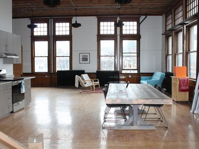 Photo for GORGEOUS RENOVATED LOFT IN 1892 SCHOOLHOUSE