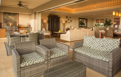 Indoor/outdoor living at it's best.  Dine and lounge with friends and family