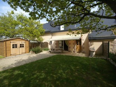 Photo for Comfortable semi-detached holiday home 700m from the beach in Brittany