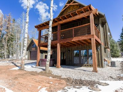 Photo for Twin Aspen-Lovely Terry Peak Cabin, Hot Tub, Fireplace & AC