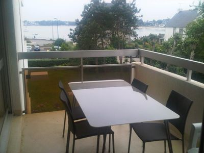 Photo for T2 apartment, sea view, 150m beach and Bénodet spa, garage, terrace