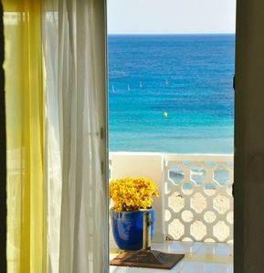 Photo for Apartment with terrace overlooking the sea of ​​Cala en Porter, beautiful view, wi-fi