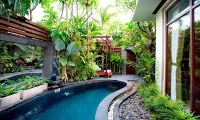 Photo for Balinese Style with Tropical Garden 2 BR Villa in Canggu, Your Perfect Hideaway!