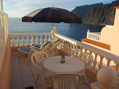 Photo for Studio in Los Gigantes with large terrace and stunning views