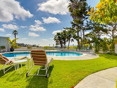 Photo for Incredible Large Ocean View Home with Pool & Spa - Close to the Beach! Low Rates