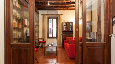 Photo for Luce 247 apartment in Trastevere with WiFi & air conditioning.