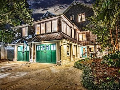 Photo for Swanky Banks Channel Waterfront Beach House with Private Boat Dock/Hot Tub
