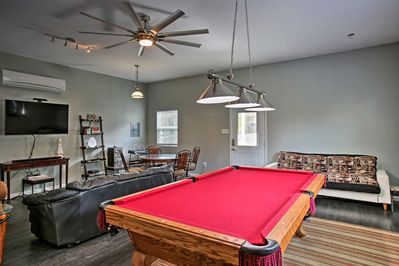 This 3-bedroom, 3-bath home boasts a spacious game room.