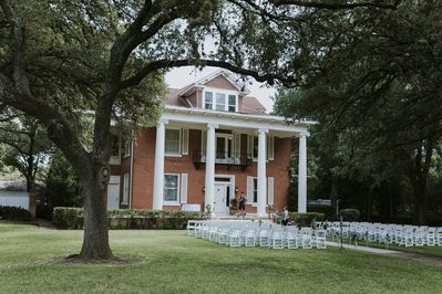 Front view of Mansion with plenty of space to host your event.