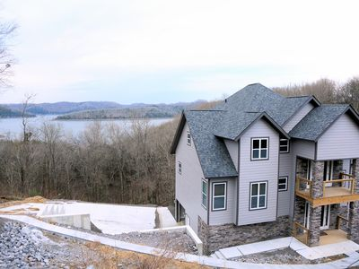 Beautiful new home with great lake views AND lake access